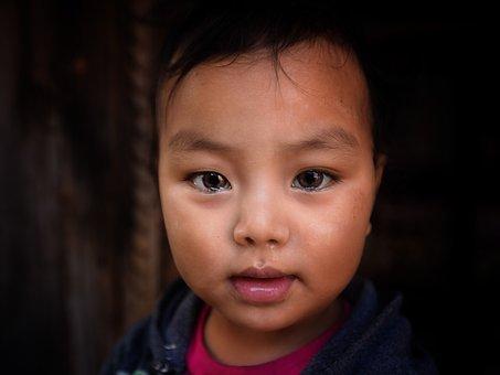 Portrait, Child, Face, Human, Person, Kathmandu, Nepal
