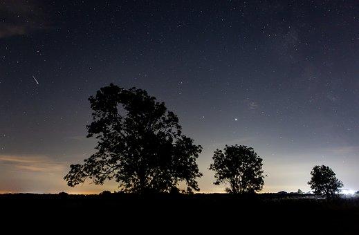 Shooting Star, Night Sky, Night Time, Galaxy, Space