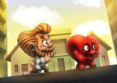 Man, Heart, People, Run
