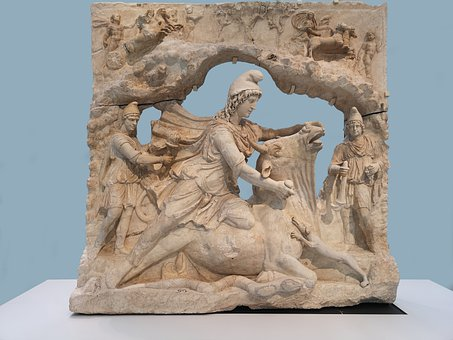 Mithra, Sacrifice, Bull, Mythology, God, Statue