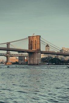 Bridge, Brooklyn, Ny, Nyc, City, Usa, Urban, Sky