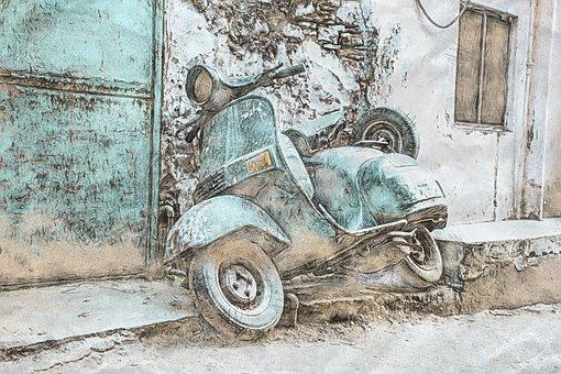 Scooter, Vespa, Vintage