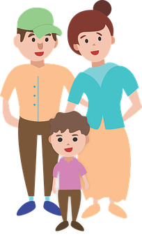 Family, Characters, Illustration, Child, Core Family