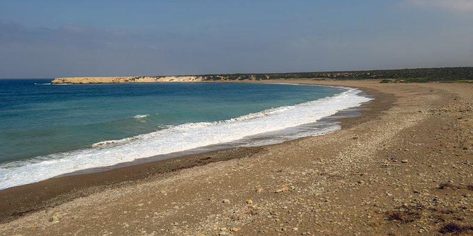 Beach, Waves, Island, Summer, Cyprus, Akamas, Lara Bay