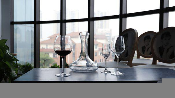 Red Wine Glass, Indoor Photography, Chairs, Tables
