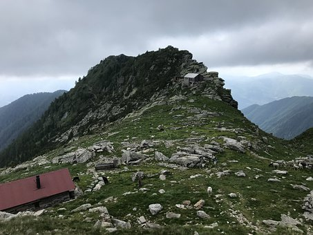 Towards The Top Of The Cugn, Alpine Route, Alps, Alpine