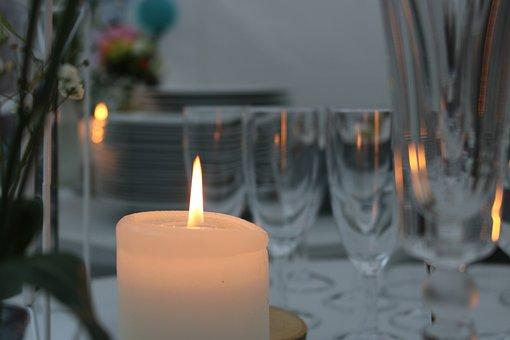 Candle, Wedding, Celebration, Decoration