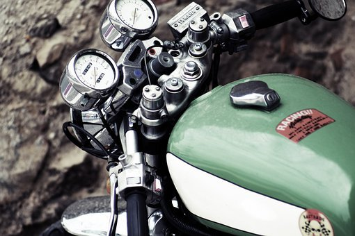 Motorcycle, Details, Engine, Chrome, Classical, Old