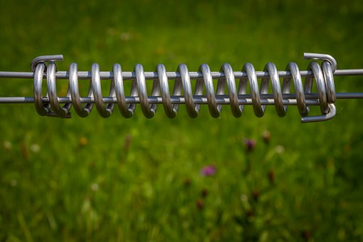 Metal, Spiral, Electric Fence, Steel, Wire, Feather