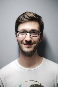 Man, Portrait, Glasses