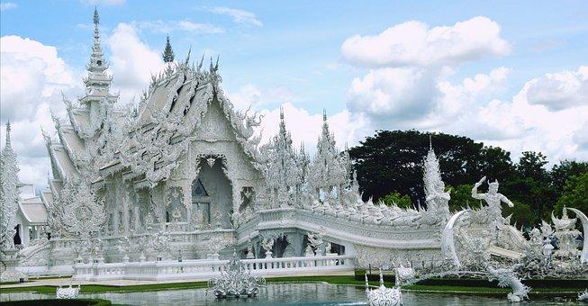 Wat Rong Khun, Thailand, Landmark, Thai