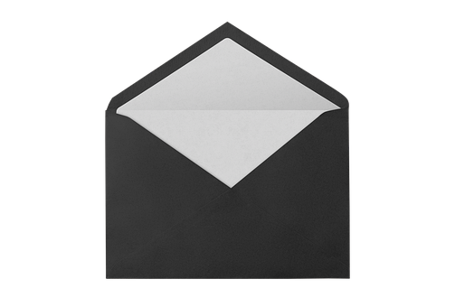 Envelope, Paper, Letters, Post, Black, Write, Message