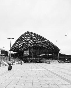 Station, Black And White, Park, Landmark