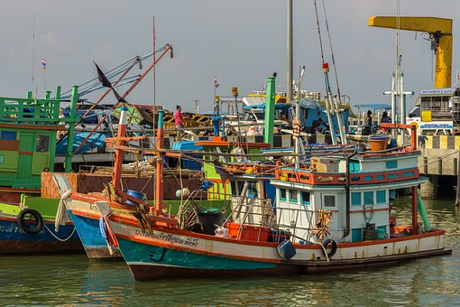 Ship, Color, Design, Thailand, Asia, Water, Sky, Boat