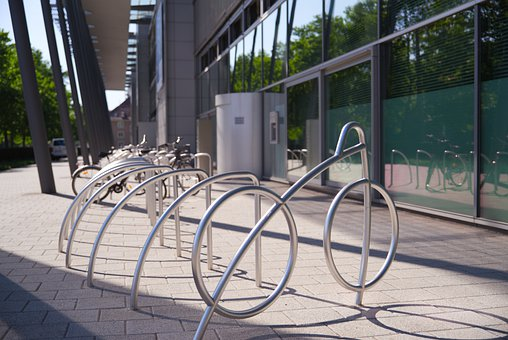 Bike Racks, Stand, Wheel, Bike, Metal, Transport
