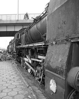 Train, Vintage, Travel, Steam Locomotive, Rust