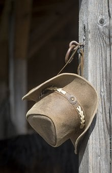 Cowboy, Hat, Western, Man, Cowboy Hat, Hangs, Subject