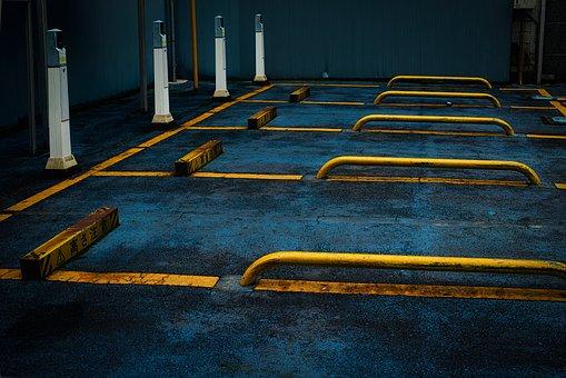 Parking, Garage, Park, Yellow Line, Tokyo