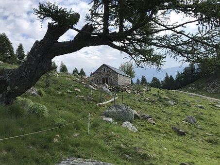 Towards The Gaggio, Abranches, Alpine Route, Alps