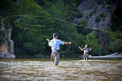 Fishing Rod, Water, Fly Fishing, Angler, Hobby, Fish