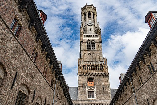 Bruges, Tower, Belgium, Historic Center, Middle Ages
