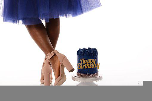 Birthday, Cake, Shoes, Girl