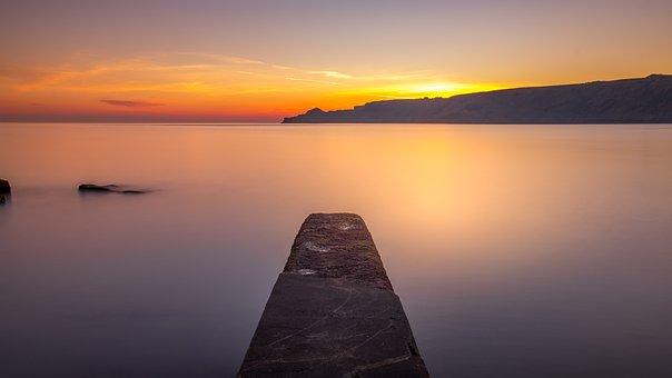 Runswick Bay, Jetty, Yorkshire, East Coast, England