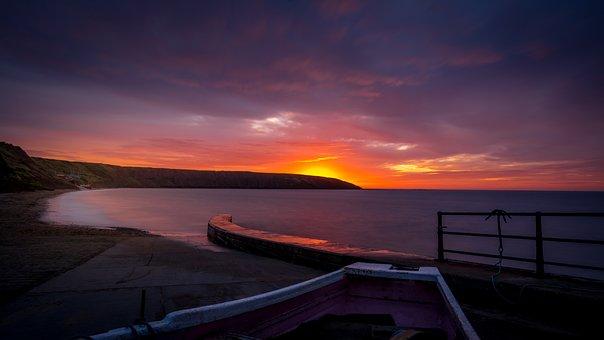 Filey Brigg, Sunrise, Yorkshire, Seascape, Beach