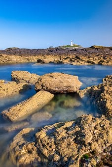 Godrevy Lighthouse, St Ives Bay, Cornwall, Gwithian