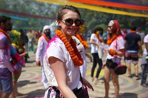 Human, Woman, Travel, Holi, India, Culture, Asia, Color