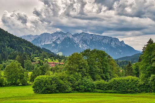 Landscape, Mountains, Nature, Upper Bavaria, Forest