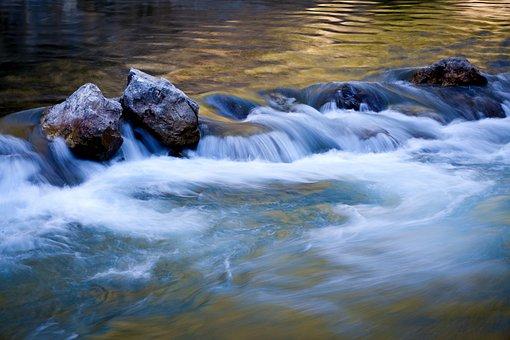 Water, Nature, Landscape, Waterfall, Background
