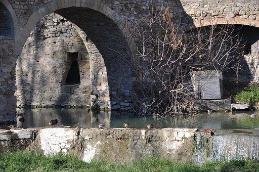 Path, River, Arc, Bridge, Nature, Catalonia, Landscape