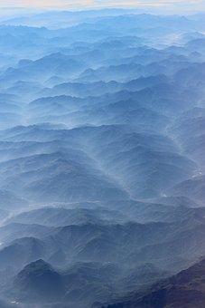 Portugal, Flight, Landscape, Azores, Mist, Natural