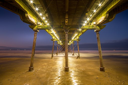 Saltburn Pier, Saltburn By The Sea, Yorkshire, Evening