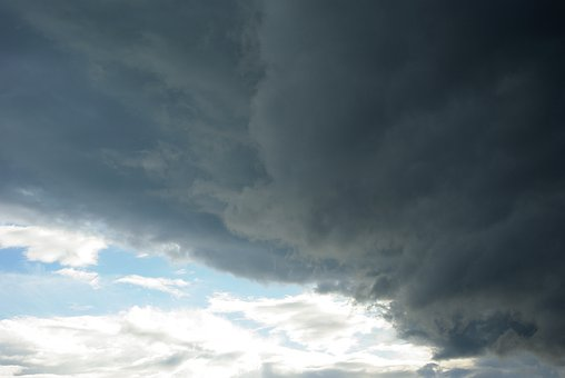 Sky, Clouds, Thunderstorm, Transition