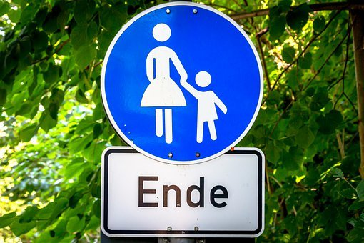 Traffic Sign, Mother, Child, Sign, Street Sign