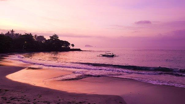 Beach, Ocean, Wave, Sunset, Sky, Vacations, Summer, Sun
