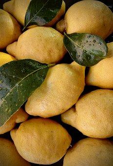 Lemons, Yellow, Fruits, Lemon Cake, Vegan