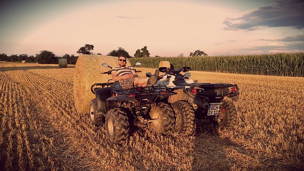Atv, Farm, Tractor, Quad, Vintage