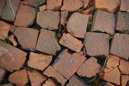 Brick, Red, Broken, Background, Texture