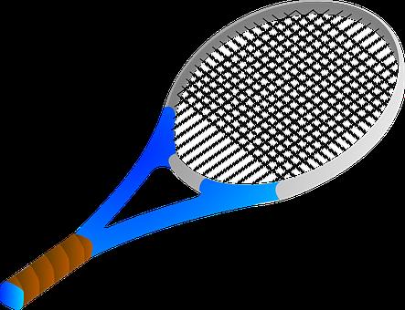 Bat, Tennis, Blue, Racket, Sport, Game