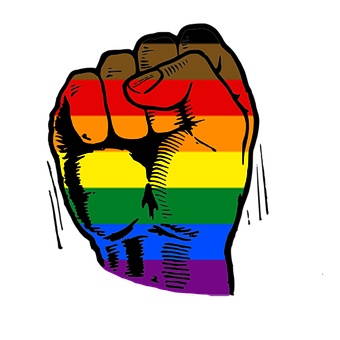 Pride Fist, Power Fist, Human, Peaceful, Diversity, We
