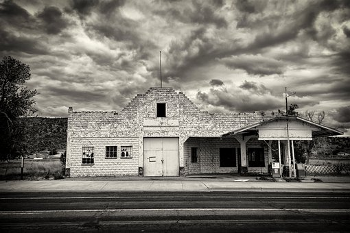 Vintage, Decay, Abandoned, Gas Station, Petrol Station