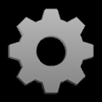 Settings, Gear, Iron, Icon