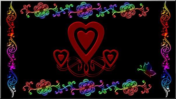 Wallpaper, Heart, Abstract, Love, Design