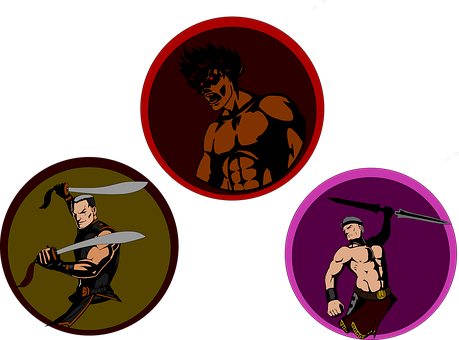 Fighters, Character, Samurai, Swords, Battle