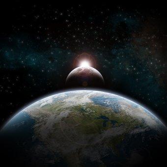 Earth, Planet, Universe, Sky, Stars, Sun