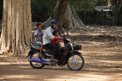 Motorbike, Transport, People, Ride, Helmet, Children