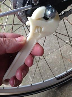 Wrench, 3d Printing, Plastic, Bike, Wheels, Repair